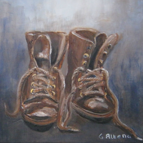 Oude schoenen 2 /30x30 cm/ €50.