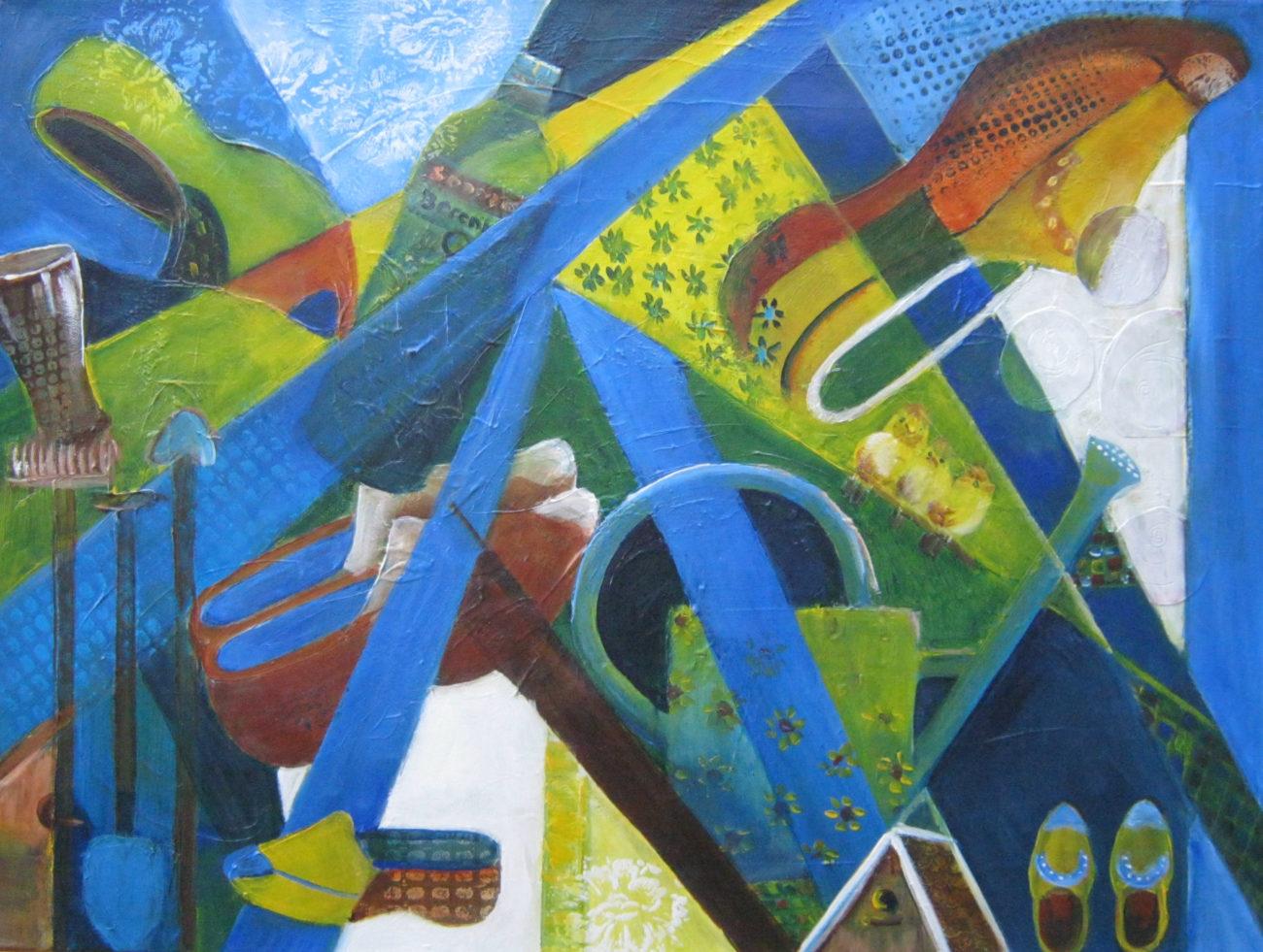 Tuinschilderij Gerda.